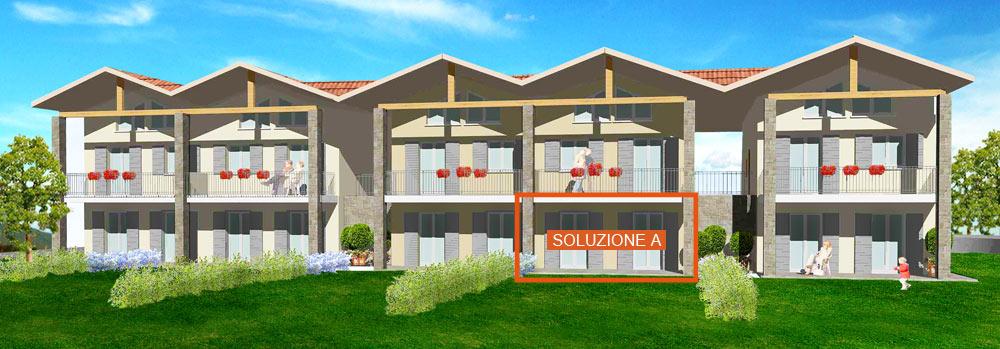 Soluzione a piano terra portico e giardino piano for Portico e design del ponte